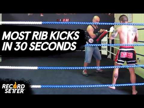 World Record: Most Rib Kicks In 30 Seconds!