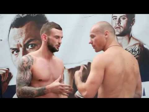 DAVID BROPHY v VITALIE MIRZA - OFFICIAL WEIGH IN FROM LEEDS / BATTLE LINES / 4th OCT. 2014