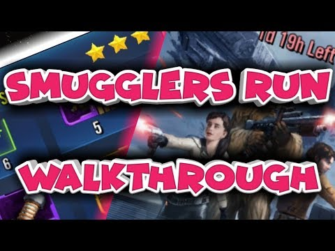 Smugglers Run Event: Deadly Tier walkthrough  star wars galaxy of heroes swgoh