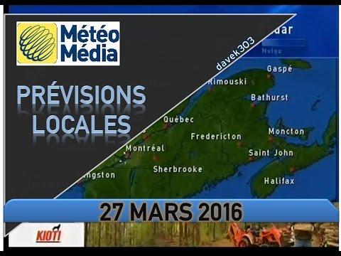 MétéoMédia Prévisions Locales - 27 Mars 2016