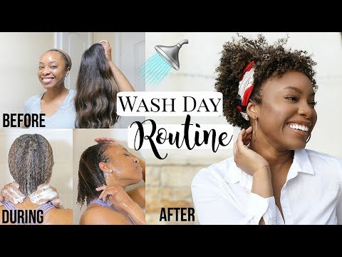 Natural Hair | Wash Day Routine After Protective Styling | Retain Moisture + Healthy Hair Growth