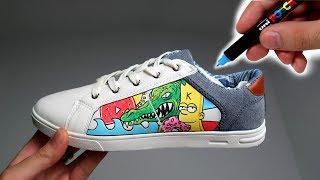 Je dessine sur des chaussures ! (Custom au Marqueur Posca)