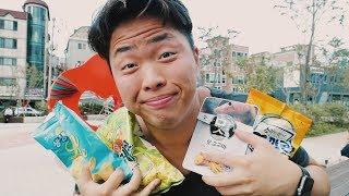 Пробую Странную Корейскую Еду