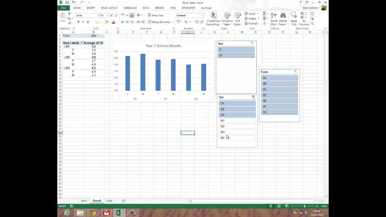 how to create a pivot table in excel 2013 youtube