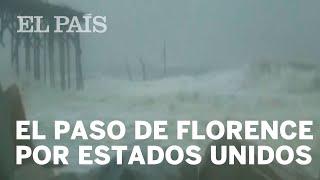 HURACÁN FLORENCE: El paso del ciclón por Estados Unidos