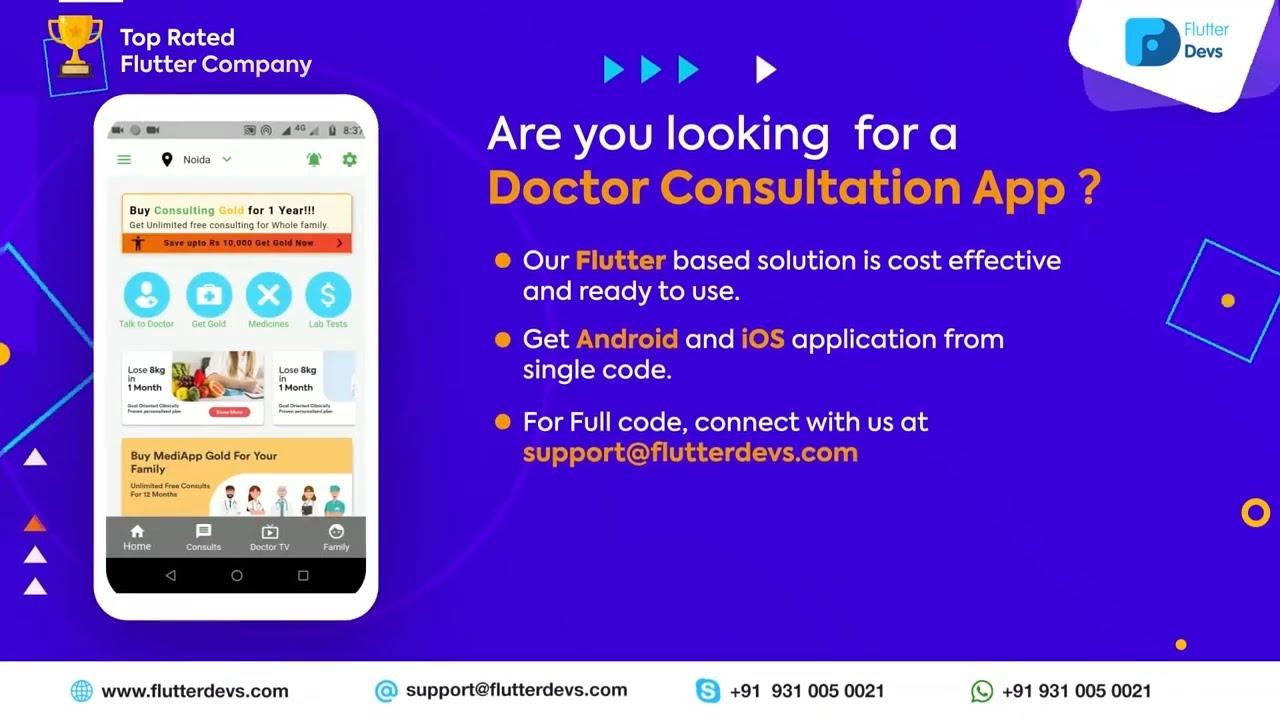 Flutter Doctor Consultation App