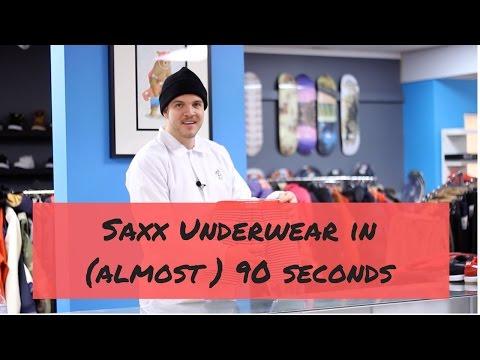 Saxx Underwear In (almost) 90 Seconds.