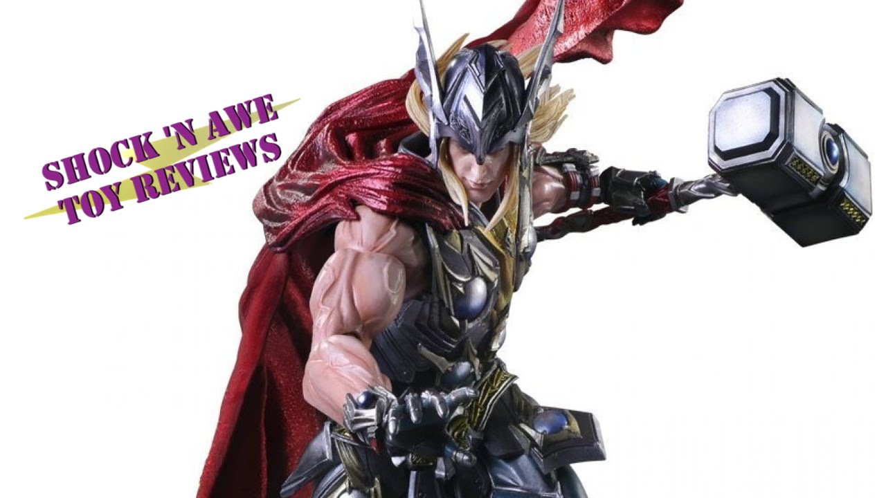 "Marvel Universe Square Enix Play Arts Kai Thor 11/"" Action Figure New Box"