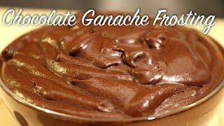 Chocolate Ganache Frosting Recipe || Chocolate Frosting for chocolate cake , cupcake