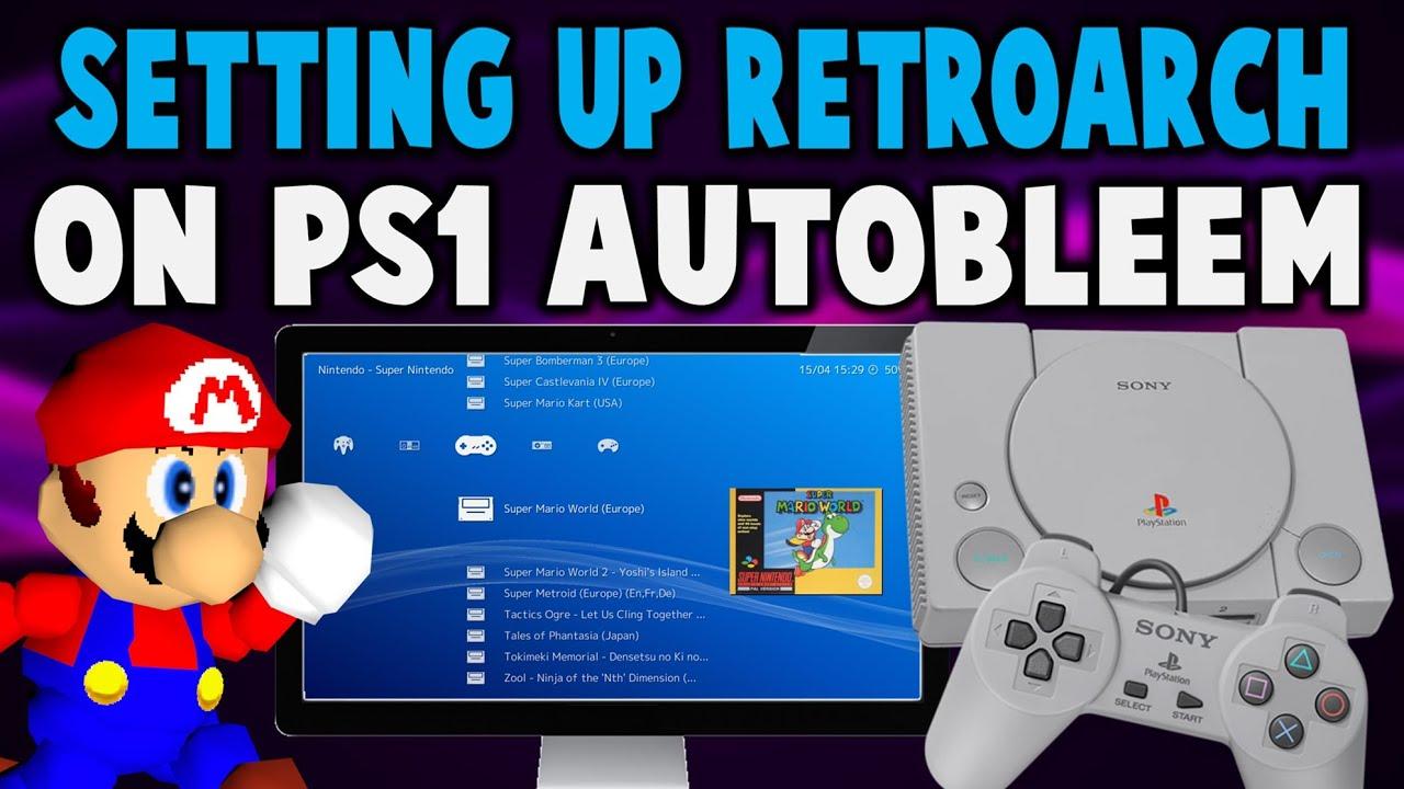 Repeat AutoBleem PlayStation Classic RetroArch Setup! by Tech James