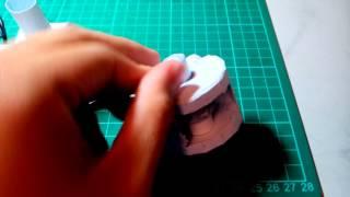 papercraft  v-engine 紙模型 可動引擎
