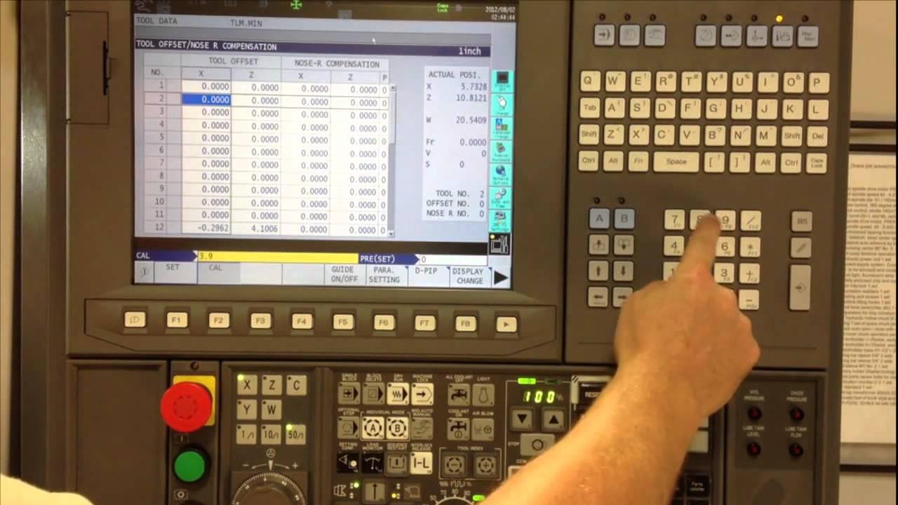 Calibrating an Okuma 2-Axis Lathe with OSP-200L CNC Control