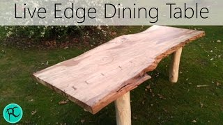 Massive Live Edge spalted beech dining table!