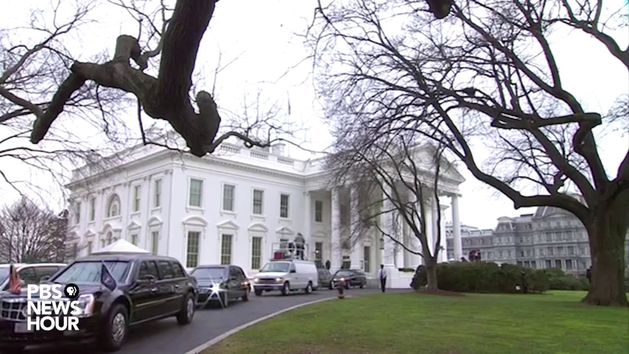 Download Obamas, Trumps, Pence and Biden depart the White House for Inauguration Day 2017