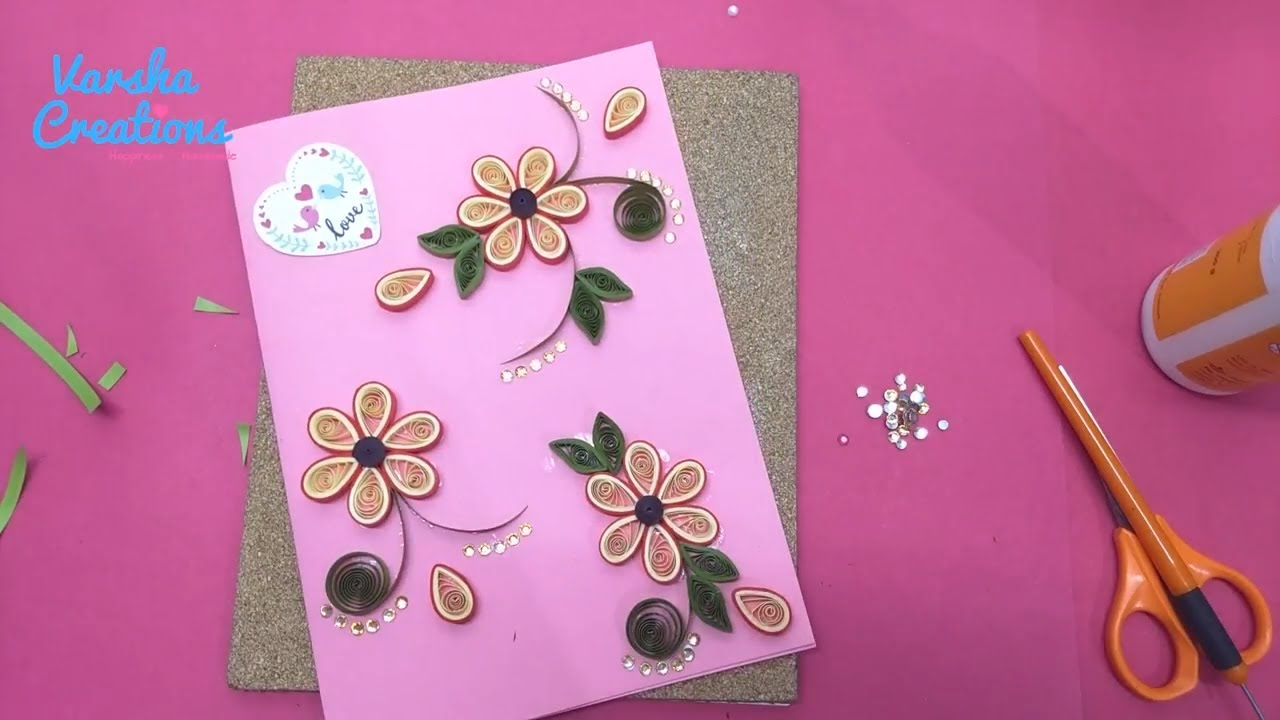 Make lovely quilled handmade greeting card for best friends and make lovely quilled handmade greeting card for best friends and lovers kristyandbryce Image collections