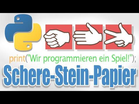 Python - Schere Stein Papier programmieren (Tutorial)