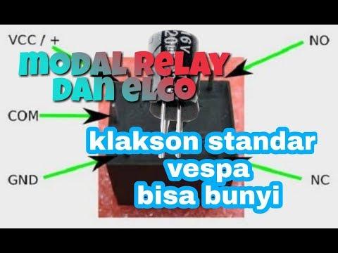 Cara Membunyikan Klakson Standar Vespa DiARUS DC / ACCU / AKI