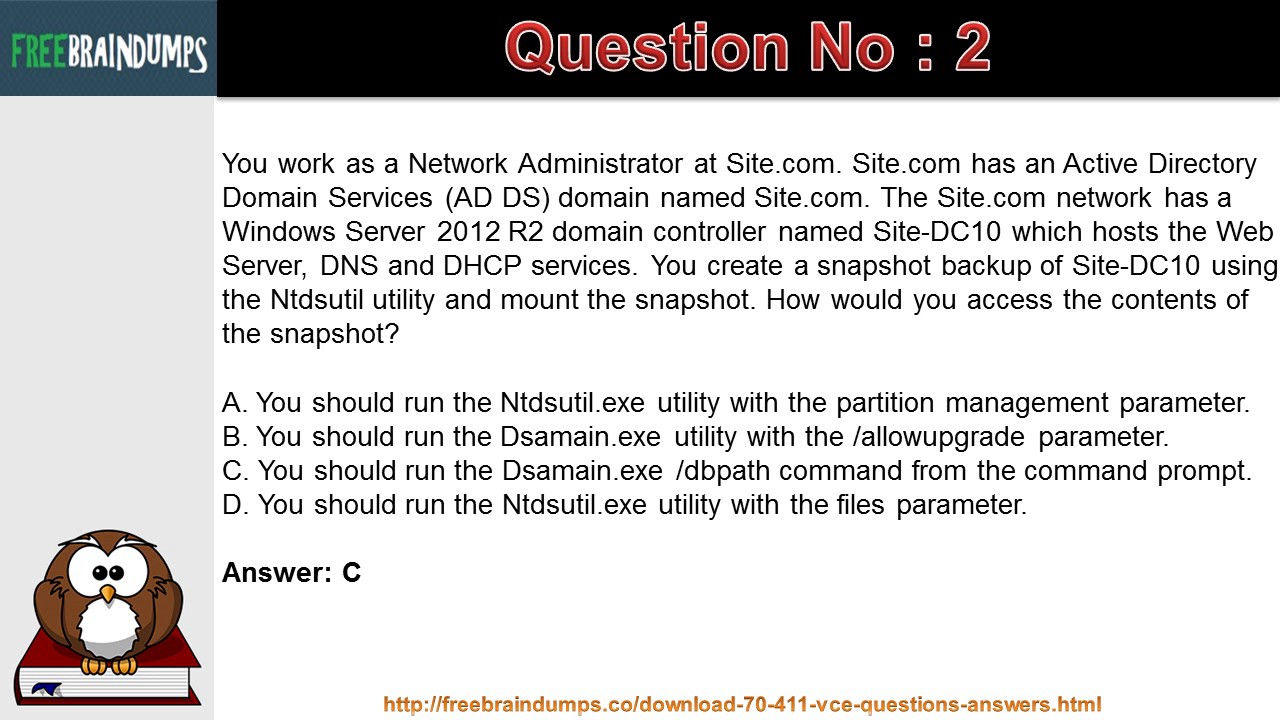 Microsoft 70 411 administering windows server 2012 exam dumps microsoft 70 411 administering windows server 2012 exam dumps question answers xflitez Image collections