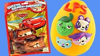huge disney cars blind bag games surprises play doh littlest pet shop toy egg spongebob tmnt