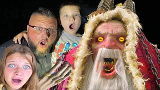 KRAMPUS Spirit Halloween 2020 Animatronic Unboxing (SCARY) with Fun and Crazy Family!
