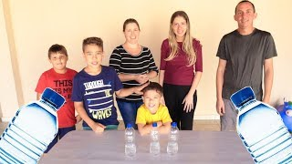 DESAFIO DA GARRAFA com MICO no FINAL | Water Bottle Flip Challenge