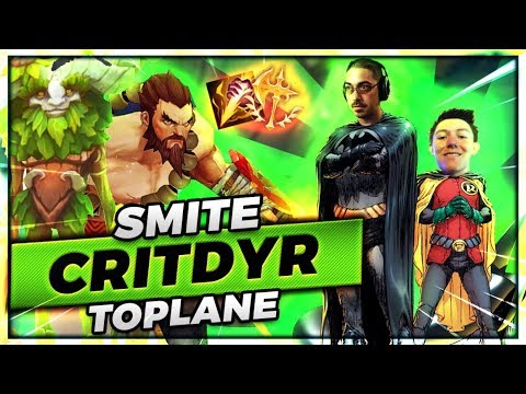 DOUBLE SMITE RUNNING IT DOWN TOPLANE | SMITE CRITDYR TOP - Trick2G
