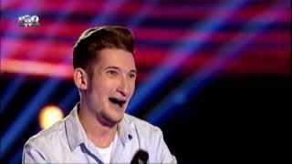 Andrei Cheteles - Feeling good (Michael Buble) - Vocea Romaniei 2014 - Auditii pe nevazute Ep. 4