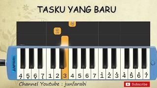 not pianika tasku yang baru - tutorial belajar pianika lagu anak - not angka