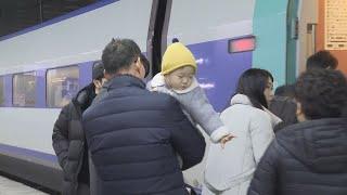 """""""일상으로 복귀""""…'작별' 아쉬운 귀경길 / 연합뉴스TV (YonhapnewsTV)"""