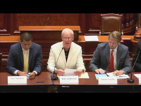 Bob Anderson testifies before the Illinois House of Representatives on consolidation
