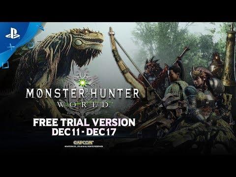 Monster Hunter: World - Free Trial Trailer   PS4 thumbnail