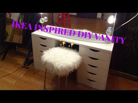 IKEA HACK !!!! SIMPLE DIY VANITY TABLE!!!