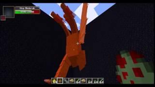 Minecraft Mob Battle:King Ghidorah Vs Burning Godzilla!
