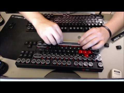 Affordable Massdrop Cherry MX TYPEWRITER KEYCAPS!!!! - YouTube