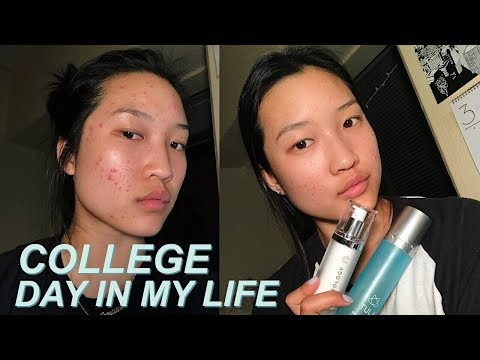 COLLEGE DAY IN MY LIFE // skincare routine + clearing up my acne!
