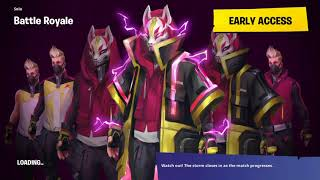 Fortnite Trying out Starter Drift Outfit
