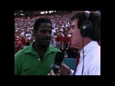 Lydell Carr interrupts Earl Campbell - 1987 OU vs Texas