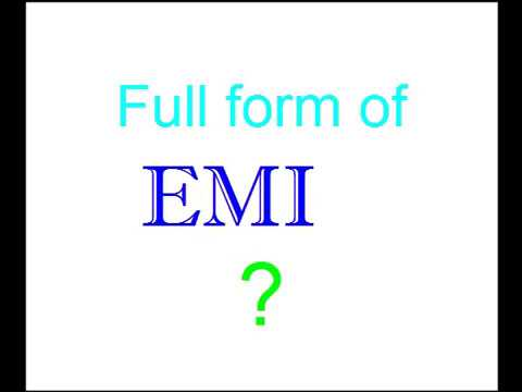EMI Full form of ? - YouTube