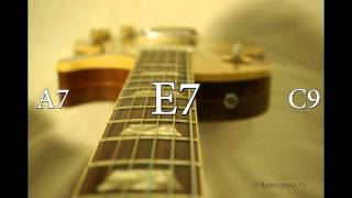 Texas Blues Shuffle Guitar Backing Track in E