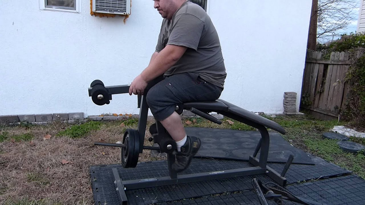 Bodysmith Parabody Leg Curl Leg Extension Bench With