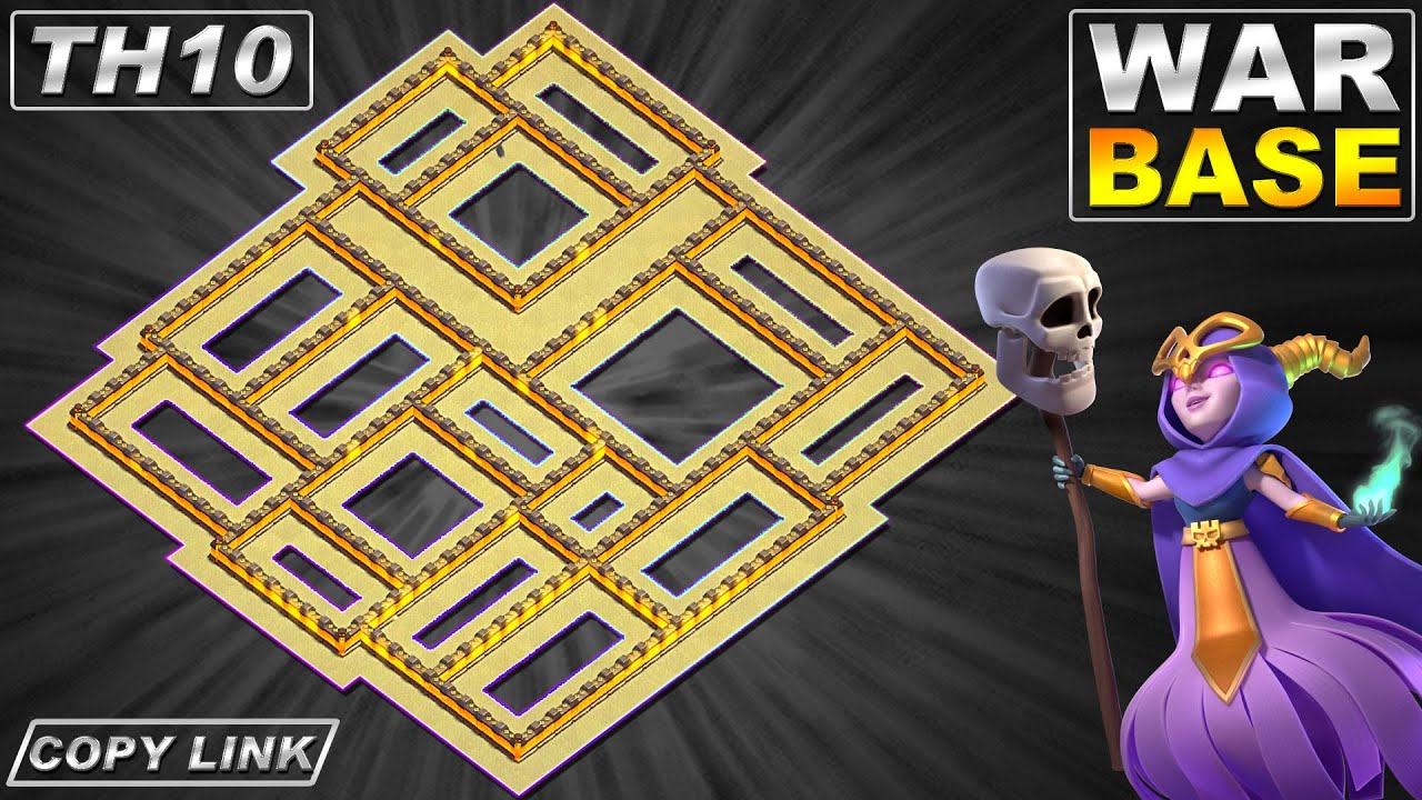 NEW TH10 Base | TH10 War Base with Copy Link - Clash of Clans
