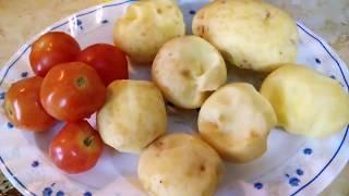 Картофель с помидорами духовые. Просто ужин.
