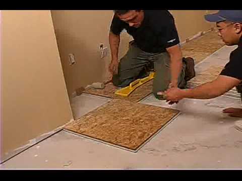 Insulated Subfloor Panel Installation