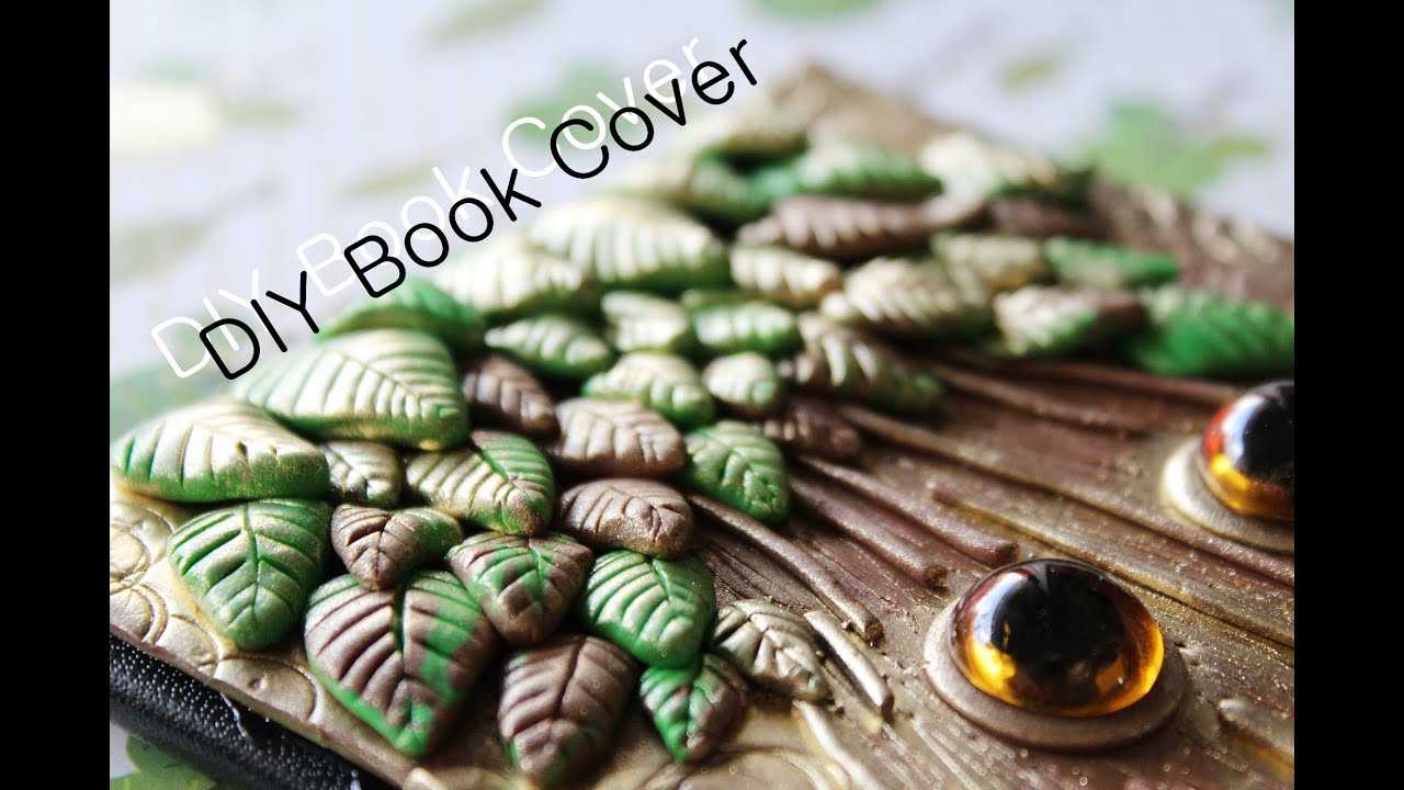 Fantasy Book Cover Tutorial : Diy polymer clay journal cover youtube
