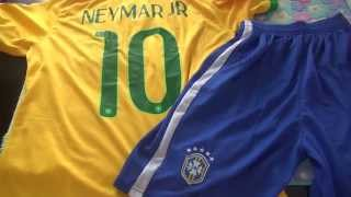 2014 World Cup Team Brazil #10 Neymar JR home soccer jerseys sets