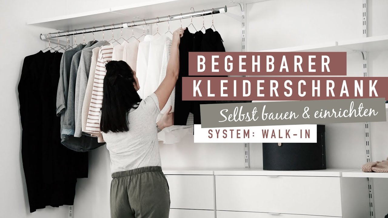 Offener Kleiderschrank Regalsystem Walk In Youtube