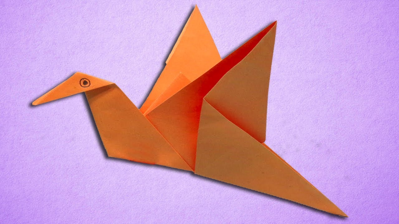 Paper Flapping Bird Making Easy Step By