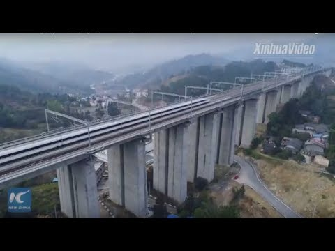 China's Chongqing-Guiyang high-speed railway to open on Thursday