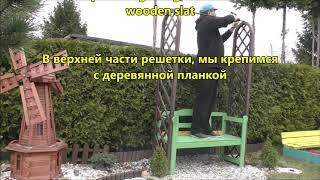 GARDEN DESIGN (71) - Bench and roses - Ławeczka i róże pnące.