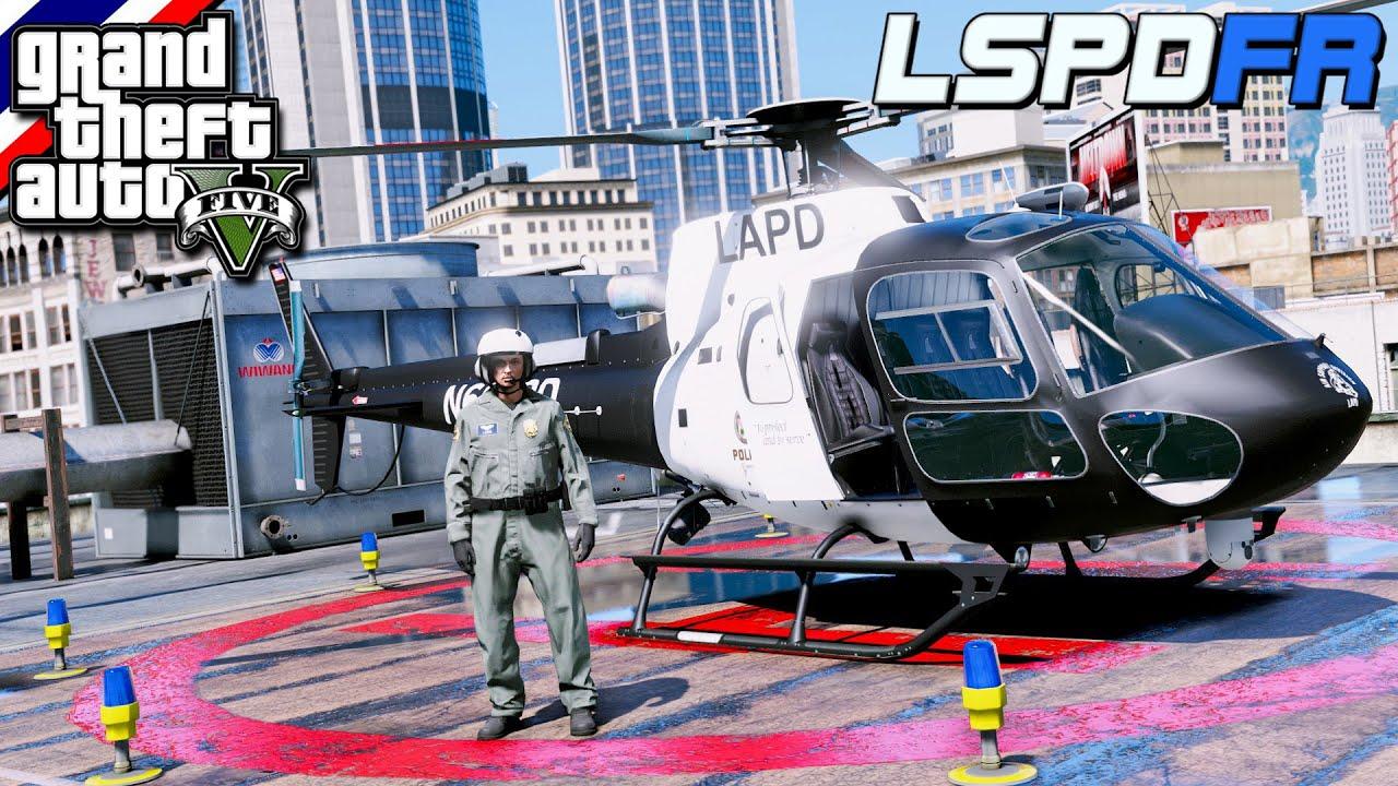 GTA V - LSPDFR มาเป็นตำรวจในเกม GTA V ภารกิจเป็นตำรวจนักบินขับเฮลิคอปเตอร์ไล่จับผู้ร้าย #124